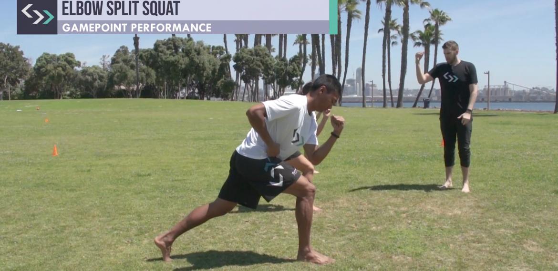 Elbow Split Squat (field)