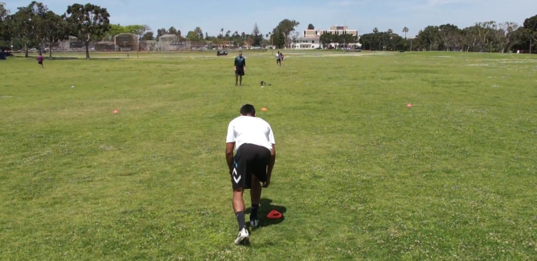 Shuffle to Run T Drill (field)