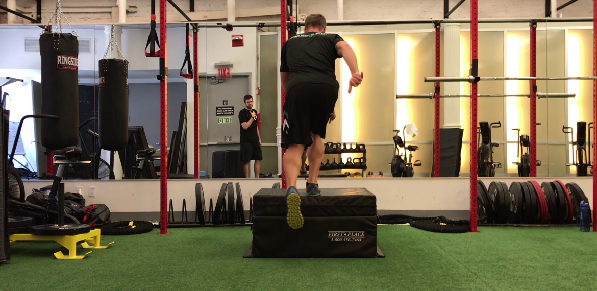 Two to One Box Jump