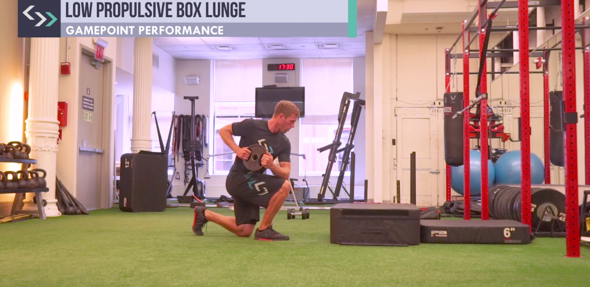 Low Propulsive Box Lunge