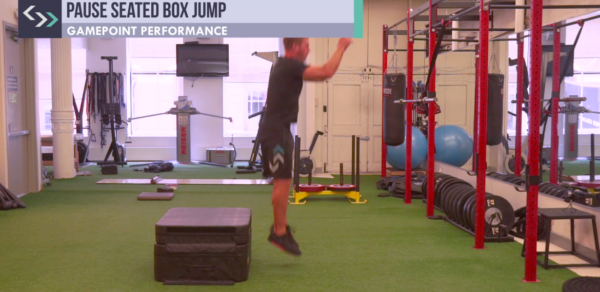 Pause Seated Box Jump