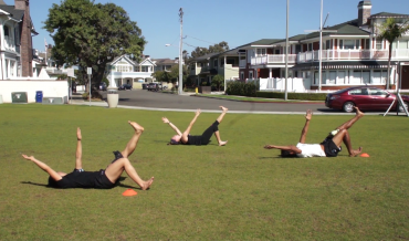 Roller-Ground Hamstrings with Alternating Reach
