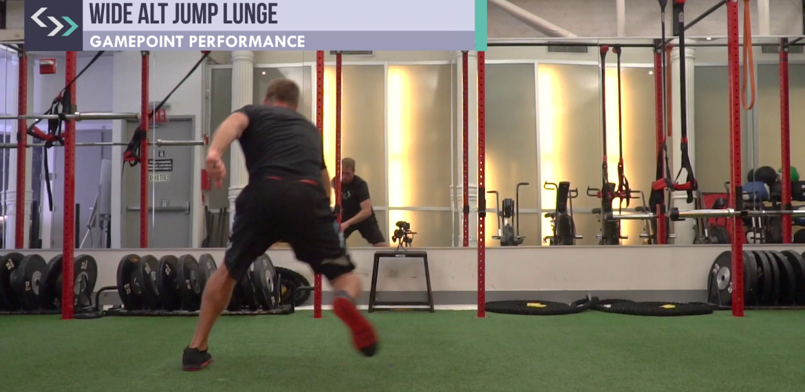 Wide Alternating Jump Lunge