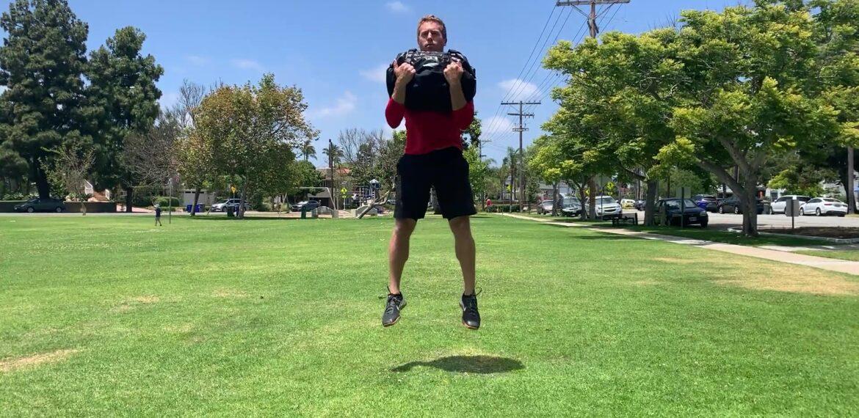 Bag Squat Jump